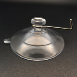 Large suction cup with metal hooks