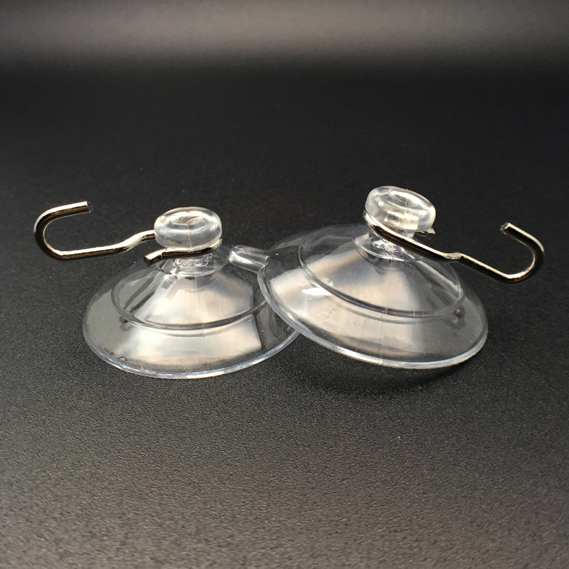 medium suction cup with metal hooks