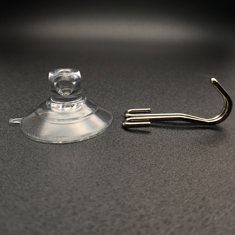 small suction cup with metal hook