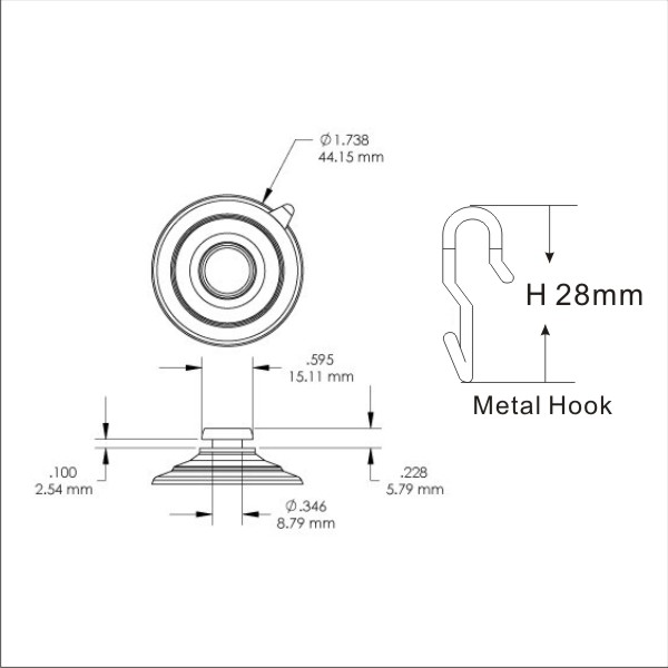 technical_drawing_45mm_suction_cup_hook