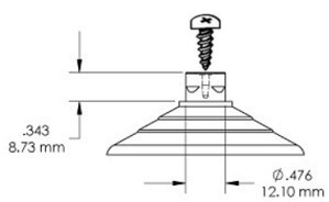Suction Cup with Self Tapping Screw