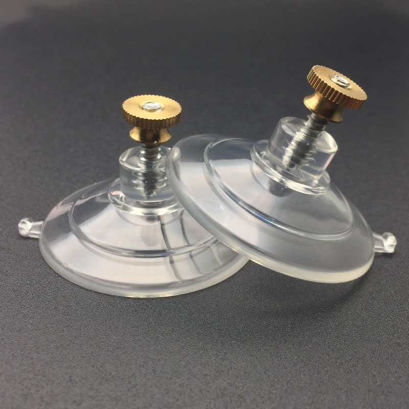 Suction Cups with Screw and Knurled Brass Nut