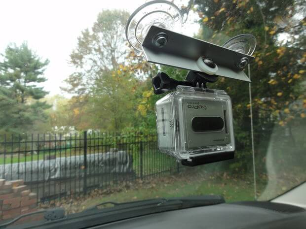 Very easy and cheap suction cup windshield mount for your GoPro camera.